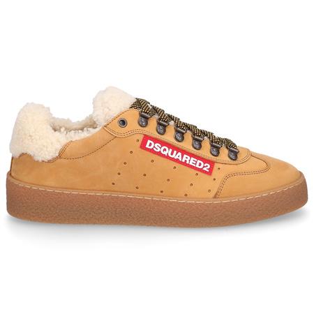 Dsquared2  Sneaker low TED Nubukleder Logo Patch camel braun