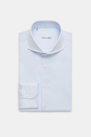 Emanuele Maffeis  - Herren - Business Hemd 'Loano' Haifisch-Kragen pastellblau