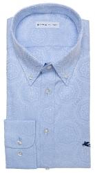 Etro gemustertes Herren Hemd langarm Hellblau blau