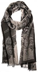 Etro Herren Schal mit Paisley Muster Grau grau