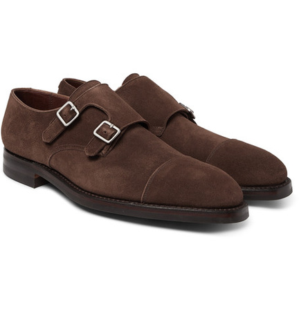 George Cleverley Thomas Leather Monk-strap Shoes - Dark brown braun