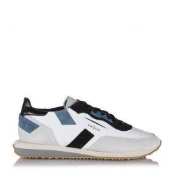 """Ghoud Herren Ledersneaker """"Rush"""" Weiss grau"""