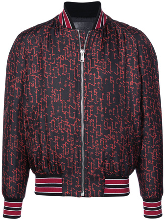 Givenchy  Seidenbomberjacke mit Print - Rot