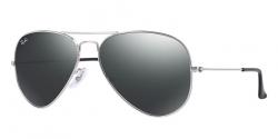 Ray-Ban Sonnenbrille Aviator Chrome Silber/Grau grau