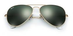 Ray-Ban Sonnenbrille Aviator Gold/Grün grau