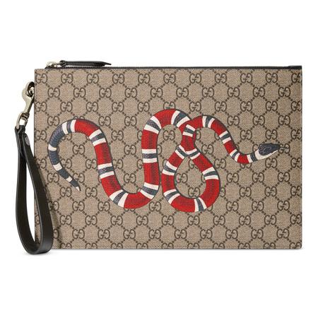 Gucci GG Täschchen mit Kingsnake braun