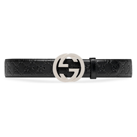 Gucci Gürtel aus Leder  Signature schwarz