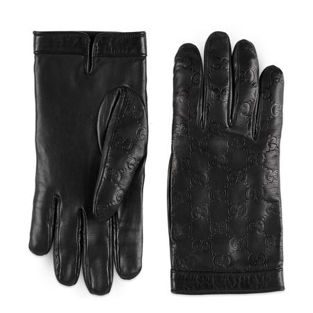 Gucci Handschuhe  Signature schwarz