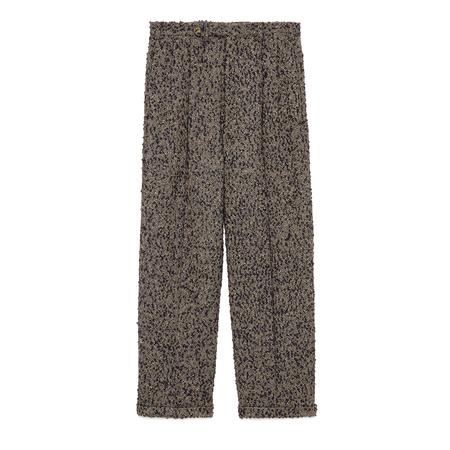Gucci Hose aus Wolle mit Bouclé-Effekt grau
