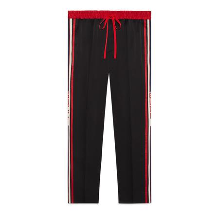 Gucci Jogginghose aus Acetat schwarz