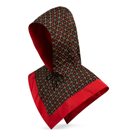 Gucci Kapuze aus Nylon mit GGSternen-Print braun
