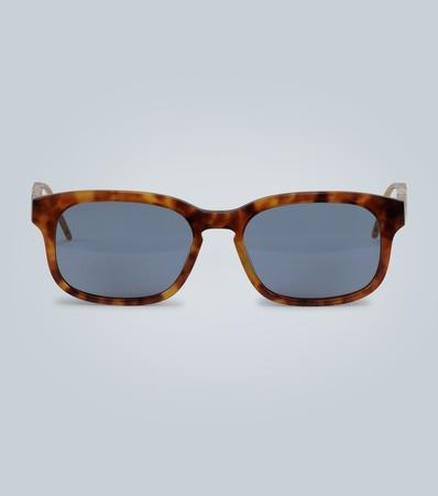 Gucci Rechteckige Sonnenbrille mit Acetat