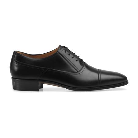 Gucci Schnürschuh aus Leder schwarz