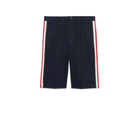 Gucci Shorts aus Baumwolle mit Web grau