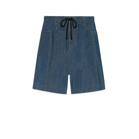 Gucci Shorts aus Stretch-Cord grau