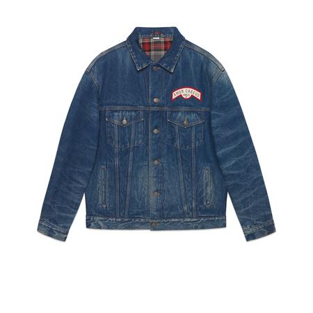 Gucci Übergroße Jeansjacke mit Patches