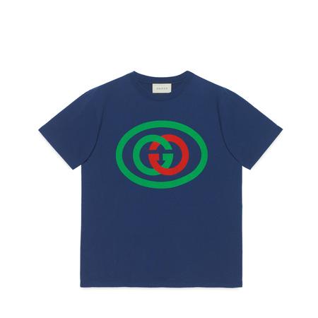 Gucci Übergroßes T-Shirt mit GGLogo grau