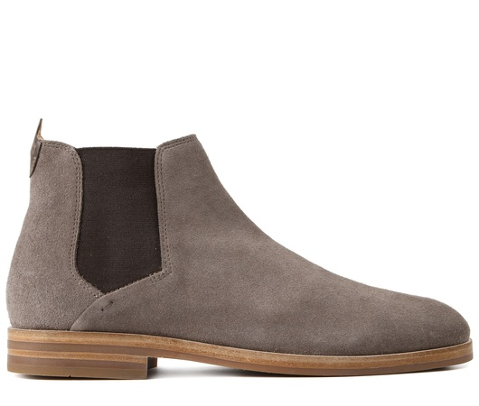 H by Hudson Chelsea Boot 'Tonti' Suede Taupe braun