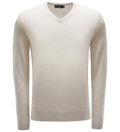 Hackett London Merino V-Neck Pullover beige