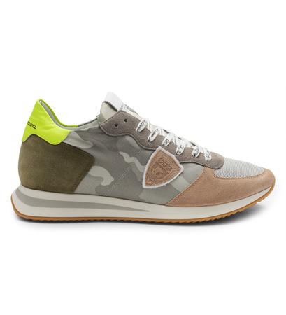 Philippe Model Sneaker 'Trpx Camouflage' grau/hellbraun gemustert braun