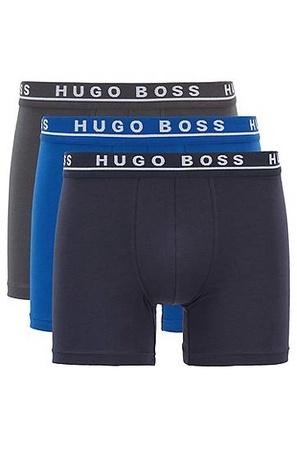 Hugo Boss Boxershorts aus Stretch-Baumwolle im Dreier-Pack grau