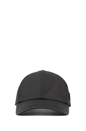 Hugo Boss Cap aus Tyvek® mit Garment-Waschung und Logo-Aufnäher aus Silikon grau