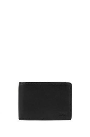 Hugo Boss Klapp-Geldbörse aus Nappaleder mit Kartenfächern schwarz