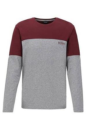 Hugo Boss Pyjama-Longsleeve aus Single Jersey in Colour-Block-Optik