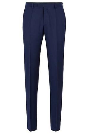 Hugo Boss Regular-Fit Hose aus melierter Schurwolle grau