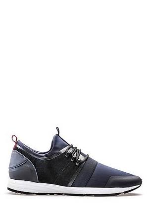 Hugo Boss Sneakers aus Material-Mix mit Neopren-Einlage grau