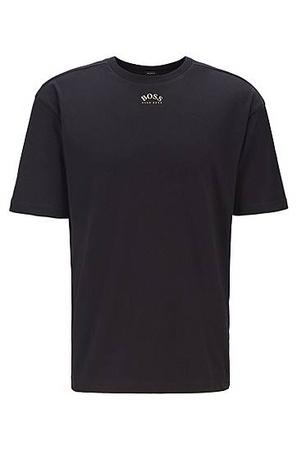 Hugo Boss T-Shirt aus Baumwolle im Retro-Stil mit geschwungenen Logos