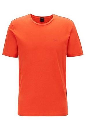 Hugo Boss T-Shirt mit Rundhalsausschnitt aus garngefärbtem Single Jersey rot