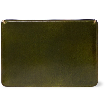 Il Bussetto Polished-leather Cardholder - Green braun