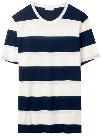 J. Lindeberg Blockstreifen-T-Shirt Leonard grau