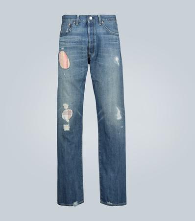 Junya Watanabe Selvage Jeans mit Distressed-Details grau