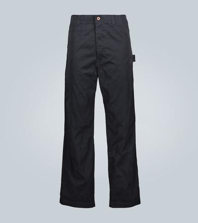 Junya Watanabe Wide-Leg Cargohose aus Baumwolle grau