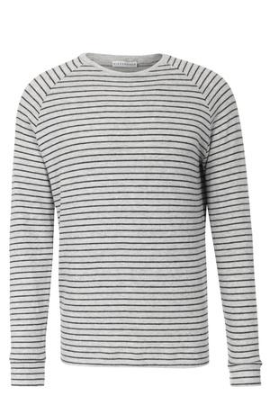 Kiefermann  Weiches Langarmshirt mit Streifen Hellgrau Herren Farbe: hellgrau verfügbare Größe: M|L|XL|XXL