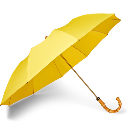 London Undercover Maple Wood-handle Twill Umbrella - Yellow orange