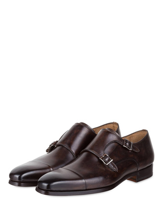 Magnanni  Double-Monks braun grau