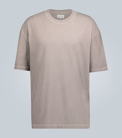 Maison Martin Margiela Oversize-T-Shirt aus Baumwolle grau
