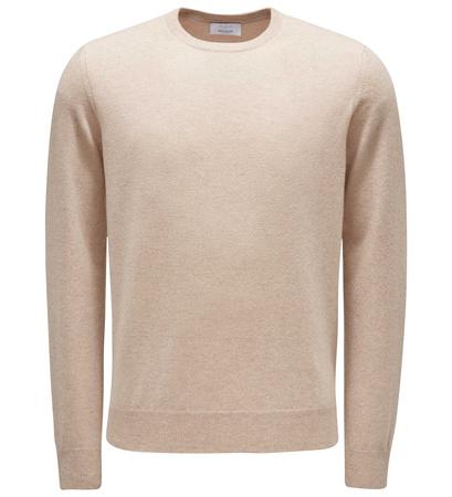 Malo Cashmere R-Neck Pullover beige braun