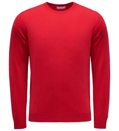 Malo Feinstrick R-Neck Pullover rot rot