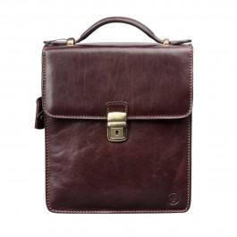 Maxwell Scott Bags Herren Leder Handtasche in Dunkelbraun - Schultertasche, Umhängetasche, Shopper, Henkeltasche braun