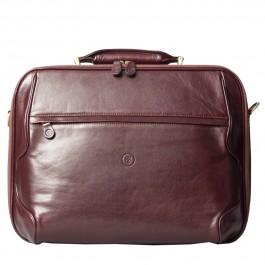 Maxwell Scott Bags Herren Leder Laptoptasche in Dunkelbraun - Aktenkoffer, Aktentasche, Businesstasche, Umhängetasche braun