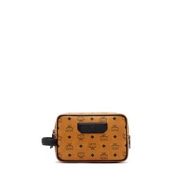 MCM Travel Pouch Small Cognac
