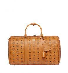MCM Traveller Weekender Visetos Medium Cognac orange