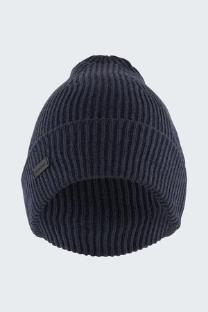 Strellson  Rippstrick-Mütze Rocco, navy meliert Herren ONE navy/meliert grau