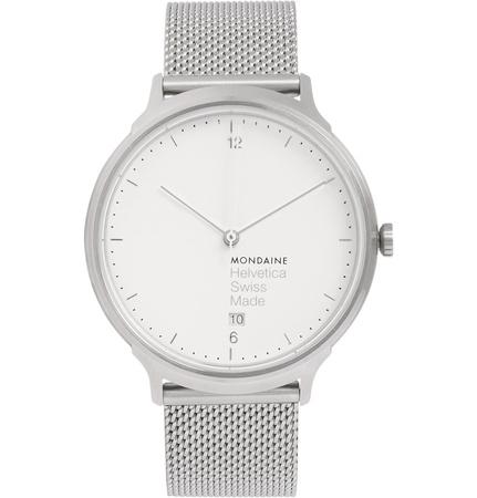 Mondaine Helvetica No1 Light Stainless Steel Watch grau