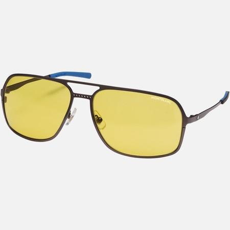 Montblanc  - Rechteckige Sonnenbrille Mit Fassung Aus Rutheniumfarbenem Metall - Sonnenbrillen - Silber
