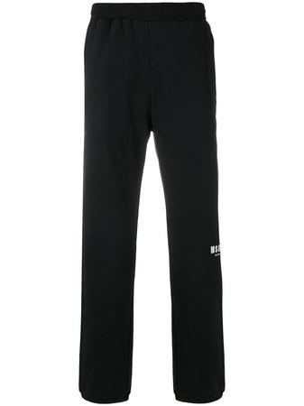 MSGM  Jogginghose mit Logo-Print - Schwarz schwarz